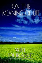 Cover of: On the Meaning of Life