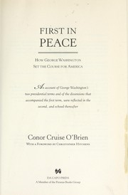Cover of: First in peace