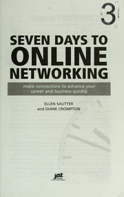 Cover of: Seven days to online networking | Ellen Sautter
