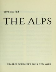 Cover of: The Alps. | Otto Siegner