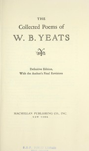 Cover of: COLLECTED POEMS DEF ED 2ED | William Butler Yeats