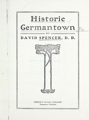 Cover of: Historic Germantown