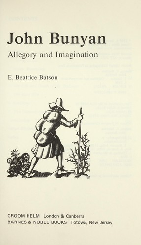 John Bunyan : allegory and imagination by