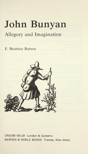 Cover of: John Bunyan : allegory and imagination |