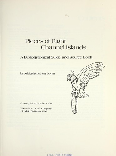 Pieces of eight Channel Islands by Adelaide LeMert Doran