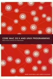Cover of: Core Mac Osx And Unix Programming | Mark Dalrymple