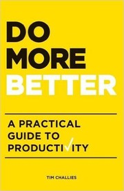 Cover of: Do More Better |