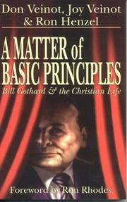 Cover of: A Matter of Basic Principles | Don Veinot