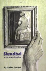 Cover of: Stendhal, or the Pursuit of Happiness