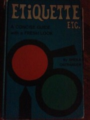 Cover of: Etiquette etc. | Sheila Ostrander