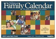 Cover of: The Thinkbin Family Calendar 2005/2006 | Susan S. Anderson; Claudia B. Browne