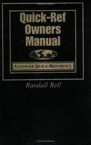 Cover of: Quick-Ref Owners