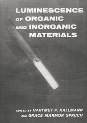 Cover of: Luminescence of organic and inorganic materials