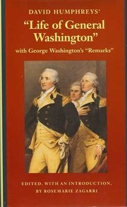 "Cover of: David Humphreys' life of General Washington: with George Washington's ""remarks"""