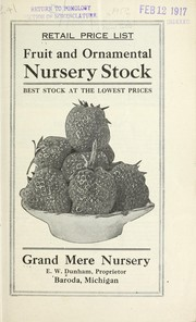 Cover of: Retail price list | Grand Mere Nursery