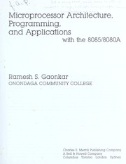 Cover of: Microprocessor architecture, programming, and applications with the 8085/8080A