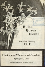 Cover of: Bulbs, roses, plants for fall planting | Great Western Plant Company