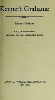 Cover of: Kenneth Grahame