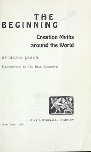 Cover of: The beginning: creation myths around the world |