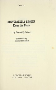 Cover of: Encyclopedia Brown Keeps the Peace