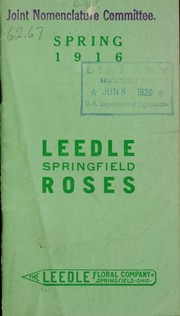 Cover of: Leedle Springfield roses | Leedle Floral Co