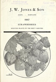 Cover of: 1917 strawberries [catalog] | J. W. Jones and Son