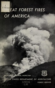 Cover of: Great forest fires of America
