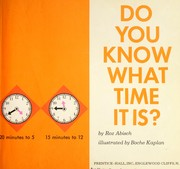 Cover of: Do you know what time it is? | Roz Abisch