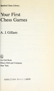 Cover of: Your first chess games