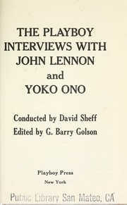 Cover of: The Playboy interviews with John Lennon and Yōko Ono