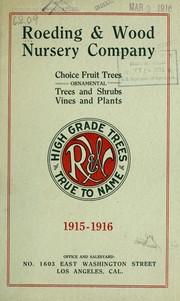 Cover of: A priced schedule of economic-ornamental plants | Roeding & Wood Nursery Company