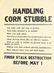 Cover of: Handling corn stubble | United States. Extension Service