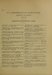 Cover of: Accessions to the Department Library | United States. Department of Agriculture. Library