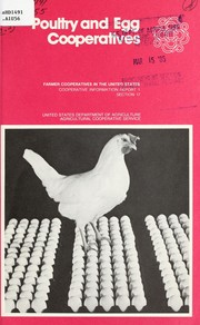 Cover of: Poultry and egg cooperatives