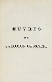 Cover of: ¿uvres de Salomon Gessner ..