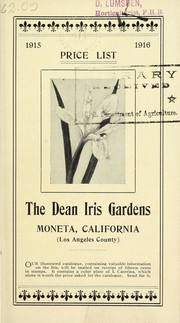 Cover of: Price list | Dean Iris Gardens