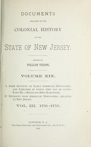 Cover of: Some account of American newspapers, and libraries in which they may be found | New Jersey Historical Society