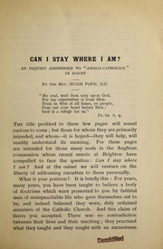 Cover of: Can I stay where I am?