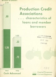 Production credit associations ... characteristics of loans and member borrowers