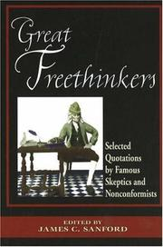Cover of: Great freethinkers