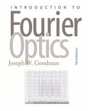 Cover of: Introduction to Fourier optics