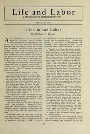 Cover of: Lincoln and labor