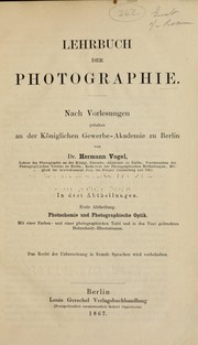Cover of: Lehrbuch der Photographie