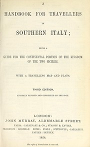 Cover of: A handbook for travellers in Southern Italy