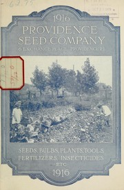 Cover of: 1916 [catalog] | Providence Seed Company