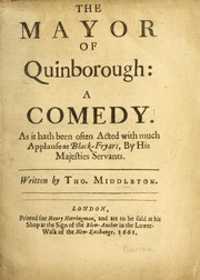 Cover of: The Mayor of Quinborough