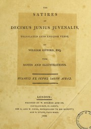 Cover of: The satires of Decimus Junius Juvenalis | Juvenal