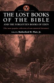 Cover of: The Lost Books of the Bible and the Forgotten Books of Eden