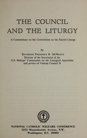 Cover of: The council and the liturgy