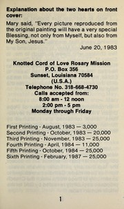 Cover of: The Knotted Cord of Love Rosary Mission | Genevieve Comeaux
